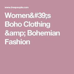 Women's Boho Clothing & Bohemian Fashion