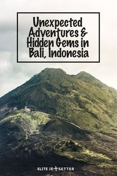 Take a look at some of the amazing and unexpected adventures we've found in Bali! things to do in bali, adventures in Bali, places to see in Bali, mount Batur, hot springs in Bali, monkey forest bali #bali #indonesia best things to see in Bali. Places to visit in Indonesia, Indonesia sightseeing. Bali Volcano via @elitejetsetters