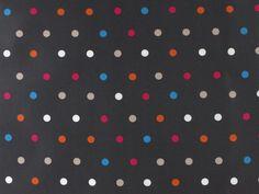 Beschichtete Baumwolle, bunte Punkte, anthrazit, NE4407006,  bei stoffe-hemmers.de, Hochwertiger Baumwollstoff, beschichtet, mit bunten Punkten, vielseitig