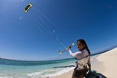 Kiteboarding on Namotu Island, Fiji