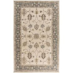 Middleton AWHR-2050 Gray/Ivory Traditional Premium Wool Rug
