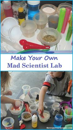 Make your own Mad Scientist Lab for the kids for open-ended experiments