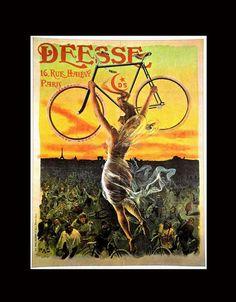 Deese Bicycles Jean de Paleogue Art Nouveau - would be GREAT for living room bike decor!