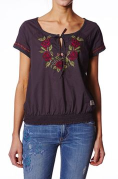 ubercute nectar blouse in asphalt from Odd Molly