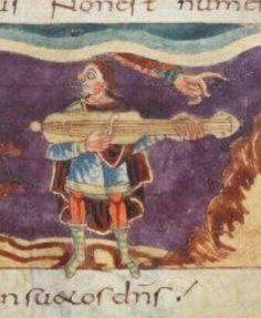 Stuttgart Psalter Cythara, Paris, 820-30.