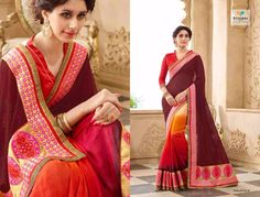 TRIVENI SAREE KALPANA VOL 4 SINGLES AVAILABLE DESIGNER SAREE WITH BLOUSE AT WHOLESALE RATE