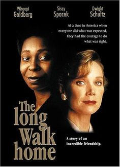 in The long Walk Home, Sissy Spacek & Whoopi Goldberg play women in Montgomery, AL, during the 1955 bus boycott. Really Good Movies, Great Movies, See Movie, Movie Tv, Buddy Movie, Movie List, Movies Showing, Movies And Tv Shows, Ving Rhames