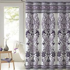 purple and gray shower curtain. Mariah Plum Purple Paisley Cotton Fabric Shower Curtain Victoria Classics Purple  Gray Silver Color Combo LOVE Pretty With