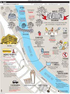 Mapa do Réveillon em Blumenau Edição: Cleisi Soares. Design e ilustração: Aline Fialho