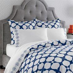Navy Hollywood Duvet Cover by Jonathan Adler, Duvet Covers & Comforters,Kids Bedding Sets, Bedding for Girls