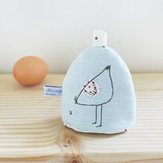 Duck Egg Linen Hen Egg Cosy £12.00