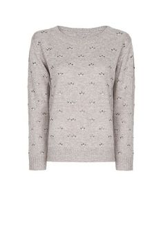 MANGO - Crystal embellished sweater