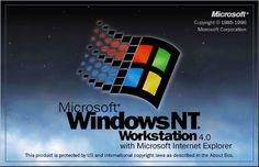 Windows NT 4 splash screen