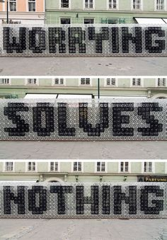 WORRYING SOLVES NOTHING - Stefan Sagmeister
