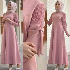Hijab styles 🌹¸. Hijab Dress Party, Hijab Style Dress, Abaya Fashion, Modest Fashion, Fashion Dresses, Girl Fashion, Moslem Fashion, Modele Hijab, Sleeves Designs For Dresses