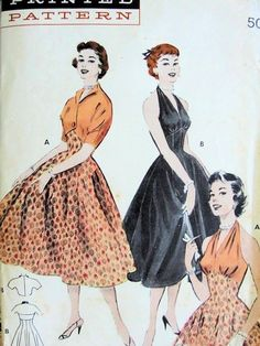 1950s JAW DROPPING Party Evening Cocktail Halter Dress and Jacket Pattern BUTTERICK 6993 Perky Princess Midriff Design Cutaway Front Bolero Jacket So  MARILYN MONROE Bust 32 Vintage Sewing Pattern