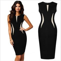 vestido clássico duas cores comprimento médio                                                                                                                                                      Mais