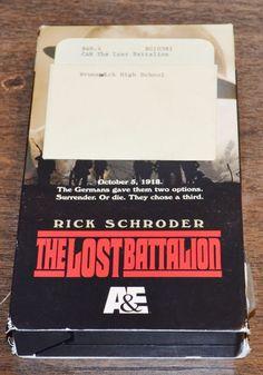 The Lost Battalion TV Movie WWII Drama VHS 2001 Rick Schroder Russell Mulcahy