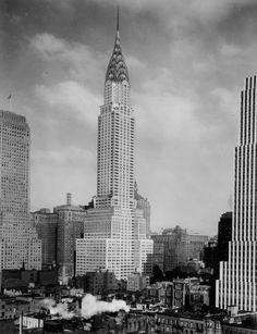 Chrysler Building and midtown, 1930.  http://nycpast.tumblr.com/post/44789377128