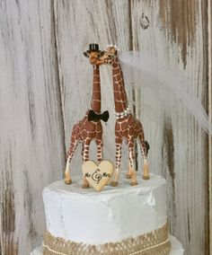 Giraffe Cake Topper Wedding Animal