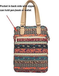 Amazon.com: Kinmac New Bohemian Vertical Style Laptop Shoulder Messenger Bag for 13 Inch Laptop Macbook Air pro 11 12 13 case Bag: Computers & Accessories