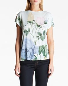 Distinguished rose T-shirt - Mint | Tops & T-shirts | Ted Baker UK