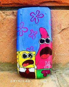 "N I G A H | نگاہ on Instagram: ""Hmu if you'd like your calculators painted as well, commissions are open! 😉 - #Spongebob #SpongebobAndPatrick #SpongebobMemes #Spongebobs…"""