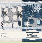 FREE Digital Scrapbooking Kit - Winter Blues
