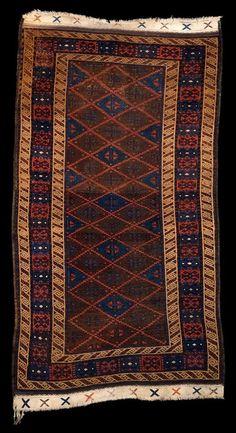 Baluchi Kurdish late 19th century wool 34 x 63 in.   86.4 x 160.0 cm. Colonel Jeff W. Boucher Collection