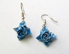 Origami Omega Star Earrings