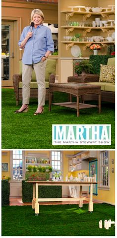 The Martha Stewart Show wrapped filming earlier this week for a backyard entertaining program that features synthetic grass by ForeverLawn.