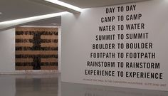 "Richard Long - Musee d'Art moderne et d'Art contemporain MAMAC Nice.  Left: part of ""Stopping and going on""  Right: ""Day to Day""     Find the best #Artistic installations in     NYC with https://www.artexperiencenyc.com"