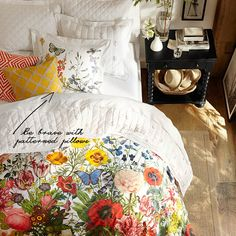 Tip: Be brave with patterned pillows — the angles in these two geometric patterns makes them work together despite their opposing hues.