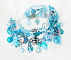 Jade turquoise beaded charm bracelet handmade by Voogs on Etsy, $45.00  GREAT EASTER, PROM, GRADUATION GIFT IDEA!!!