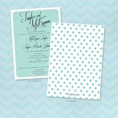 McKenna Polkadot Wedding Announcements by DesignedByJacklyn