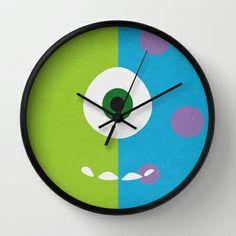 Monsters Inc - Minimalist Poster 02 Wall Clock