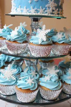 copos de 36 nieve cupcake toppers pastel por InscribingLives
