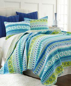 Look at this #zulilyfind! Aruba Bright Quilt Set #zulilyfinds