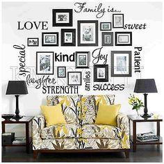 Vinyl lettering FAMILY IS sticky word quote wall art | Дом и сад, Домашний декор, Наклейки, переводные рисунки и винил | eBay!