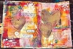 Mixed Media Art Work | ... Mittwochsinspiration #7 - Art Journaling / Mixed Media Video Anleitung