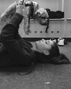 """Welcome to the """"AG dog family"""", Strauss! #dognumber7forher #arianagrande"""
