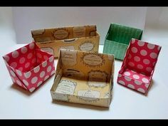 実用使い 折り紙1枚で超シンプル フタ付きの箱 長方形 Youtube 折り紙 箱 の 作り方 折り紙 箱 箱の作り方