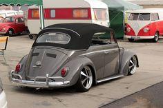 Jan Kamm, of Kürnach, Würzburg, Germany. Owner of Jan Kamm-In workshop. His 1500 L469 Antracite 1964 VW Beetle Cabriolet. Join him on Facebook at:        &…