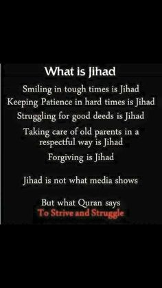 The true and noble concept of Jihad in Islam☘