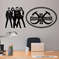 """""""Héroes del Silencio""""  fue uno de los mejores grupos españoles de rock a mediados de los años 80, este vinilo se entrega en una pieza de 136x56 cm #retovinilo #vinilosdecorativos #vinilo #musica  #heroes"""