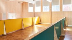 Schools In London, Laminate Colours, Plywood Panels, Glass Partition, Design Competitions, Dezeen, Master Plan, Primary School, Teak