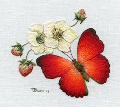 Digital Download  African Red Butterfly by TRISHBURREMBROIDERY