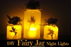 These Fairy Jar Lights are just so gorgeous & look divine in my little girls…