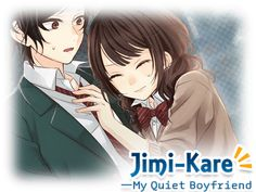 Otome game Jimi-Kare: My Quiet Boyfriend Anime Couples, Cute Couples, Boyfriend Games, Cutest Thing Ever, New Theme, Cartoon Characters, Animation, Manga, Pets