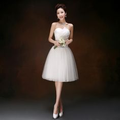 Formal elegante simple sin tirantes de tul corto dulce 16 prom party vestidos para adolescentes vestidos de bola del vestido debajo de 50 envío gratis S3231(China (Mainland))